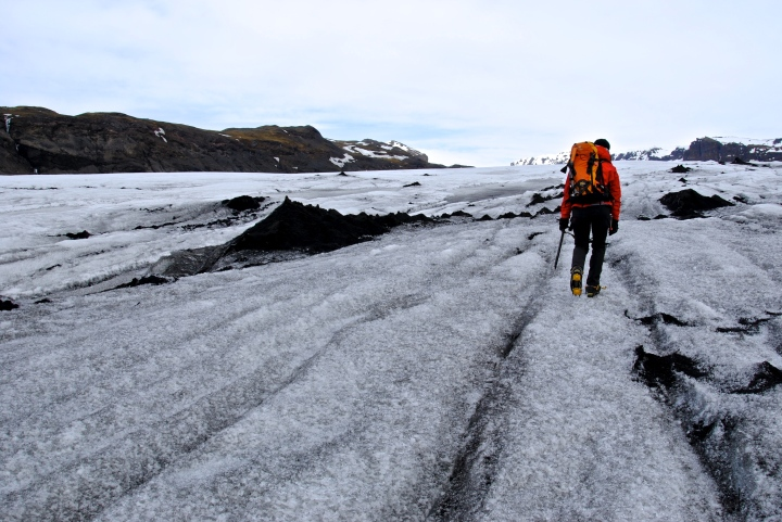 Katrín in her right element and guiding me on the Solheimajökull.